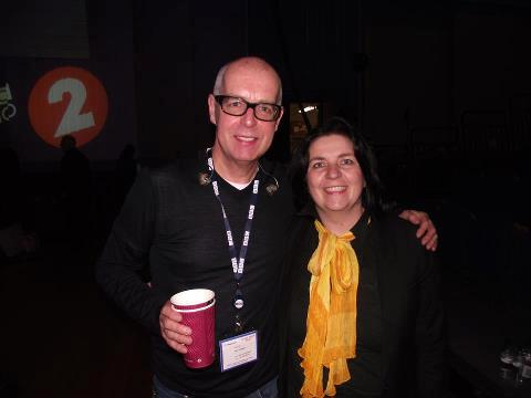 With Neil Tennant in BBC Studio, Salford